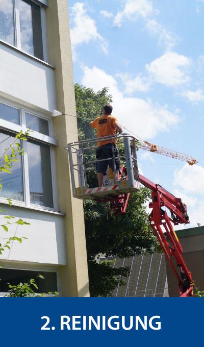 Reinigung der Fassade