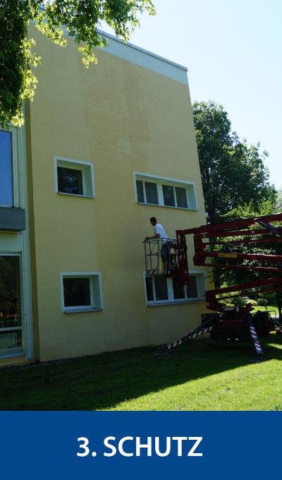 Schutz der Fassade