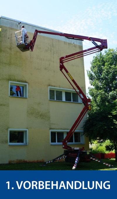 Vorbehandlung der Fassade