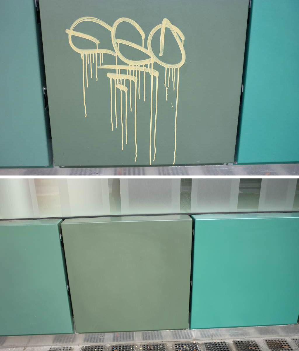 Entfernung Graffiti