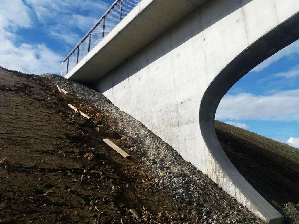 Brücke nach Graffitientfernung